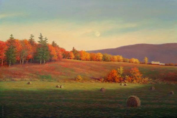 Wall Art - Painting - Autumn Moon by Barry DeBaun