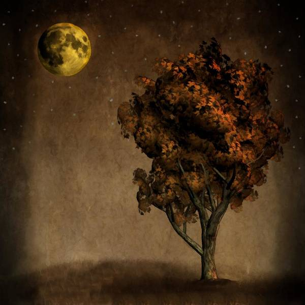 Painting - Autumn Moon by David Dehner