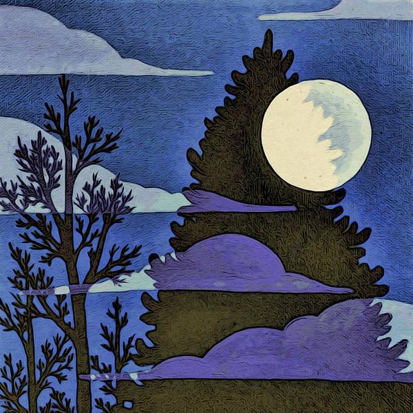 Digital Art - Autumn Moon by Paisley O'Farrell