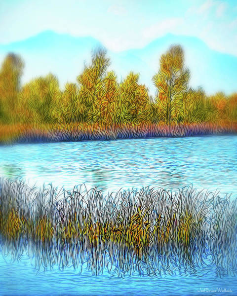 Digital Art - Autumn Morning Tranquility by Joel Bruce Wallach