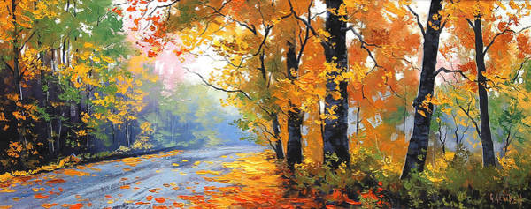 Leaf Painting - Autumn Mt Wilson by Graham Gercken
