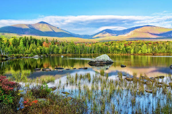 Photograph - Autumn Mt.katahdin Baxter Sp Maine by Michael Hubley