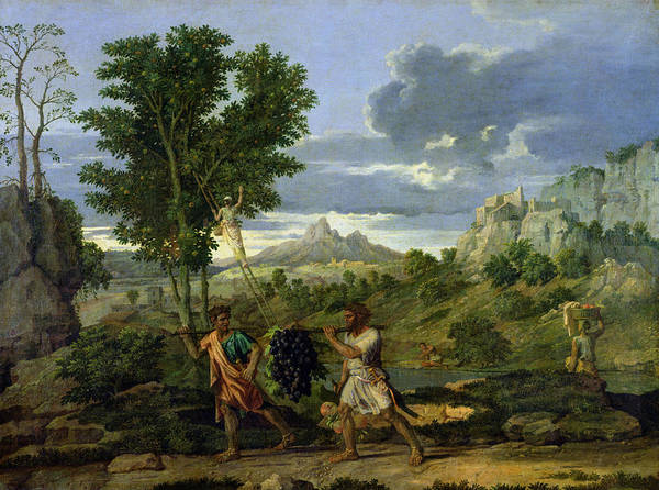 Grape Bunch Wall Art - Painting - Autumn by Nicolas Poussin
