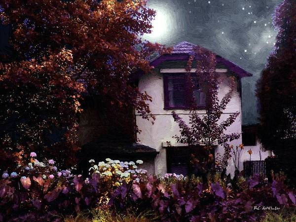 Painting - Autumn Night In The Country by RC DeWinter