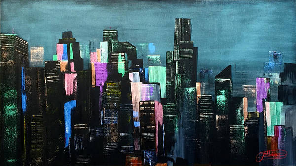 Painting - Autumn Nights And City Lights by Jack Diamond