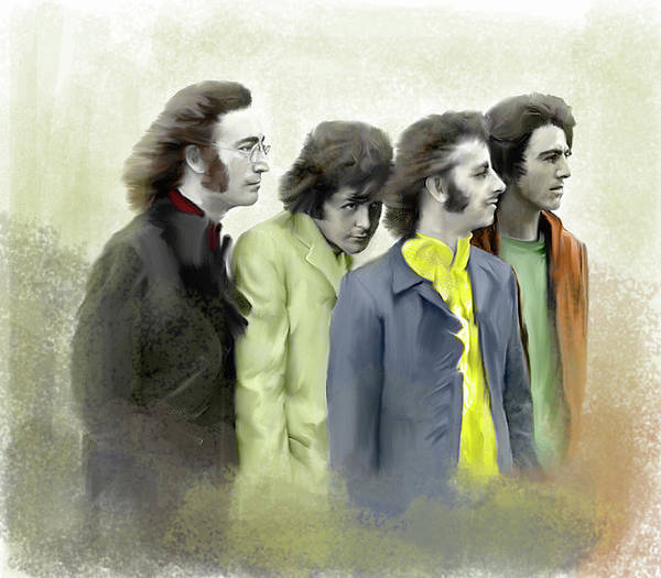 Painting - Autumn Of 68 The Beatles by Iconic Images Art Gallery David Pucciarelli