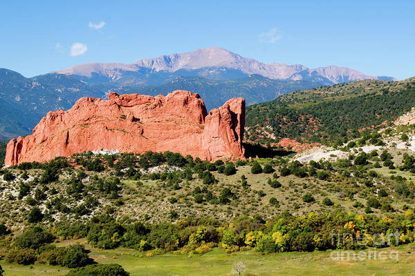 Photograph - Autumn On Garden Of The Gods And Peak by Steve Krull