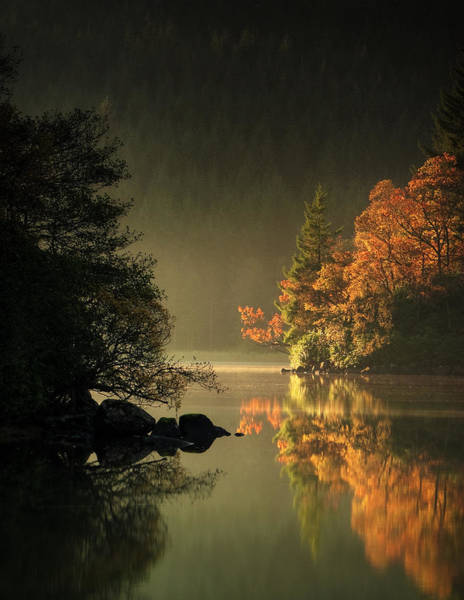 Wall Art - Photograph - Autumn On Loch Ard by David Mould