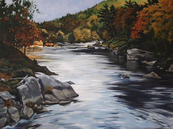 Painting - Autumn On The Allegheny by Outre Art  Natalie Eisen