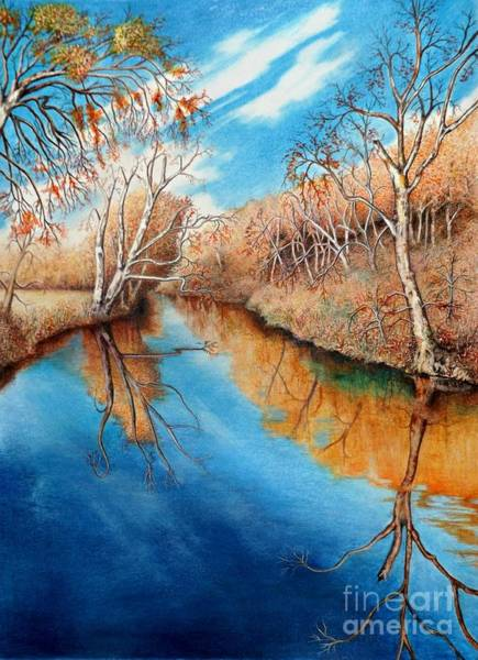 Drawing - Autumn On The Elkhorn by David Neace