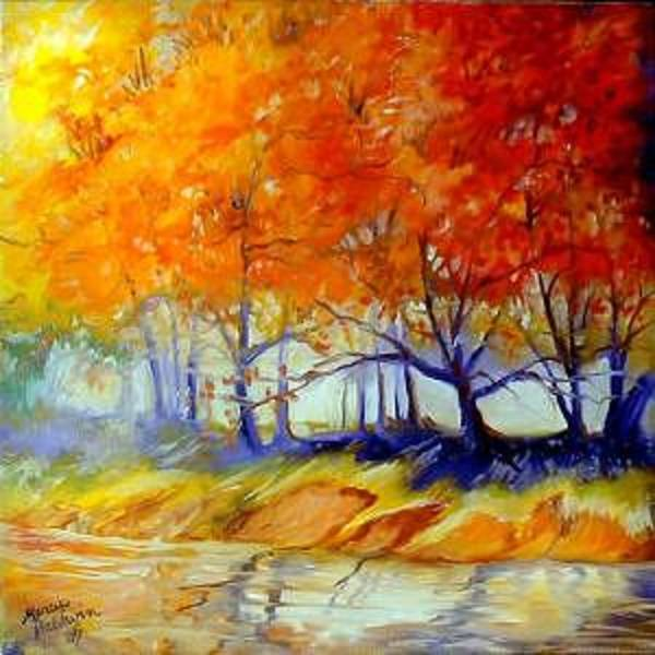 Painting - Autumn On The Lake by Marcia Baldwin