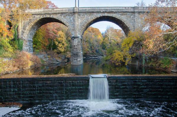Photograph - Autumn On The Wissahickon Creek - Philadelphia by Bill Cannon