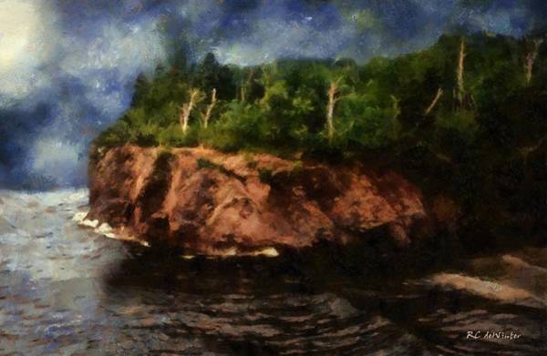 Painting - Autumn Overlook by RC DeWinter
