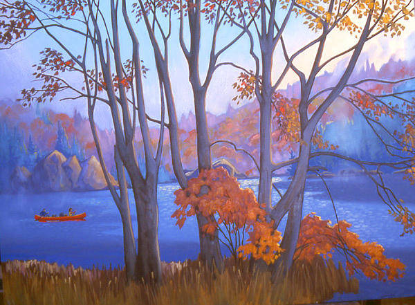 Wall Art - Painting - Autumn Passage by Paul Gauthier
