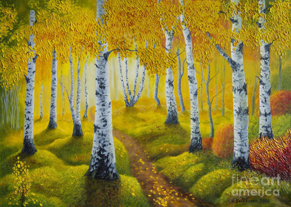 Wall Art - Painting - Autumn Path by Veikko Suikkanen