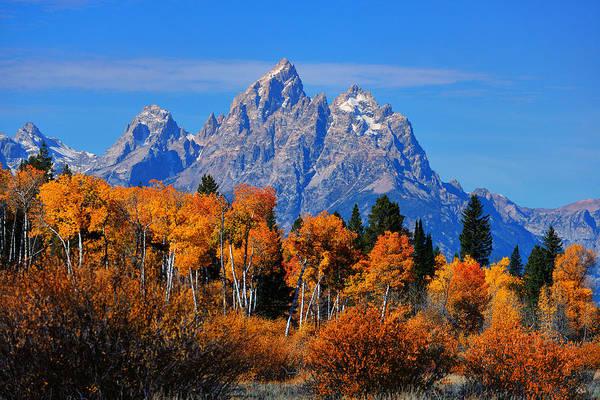 Photograph - Autumn Peak Beneath The Peaks by Greg Norrell
