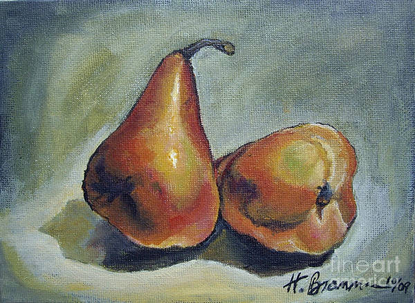 Holly Brannan Wall Art - Painting - Autumn Pears by Holly Bartlett Brannan