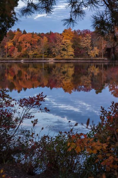 Photograph - Autumn Peeking Through Lake Horicon Nj by Terry DeLuco