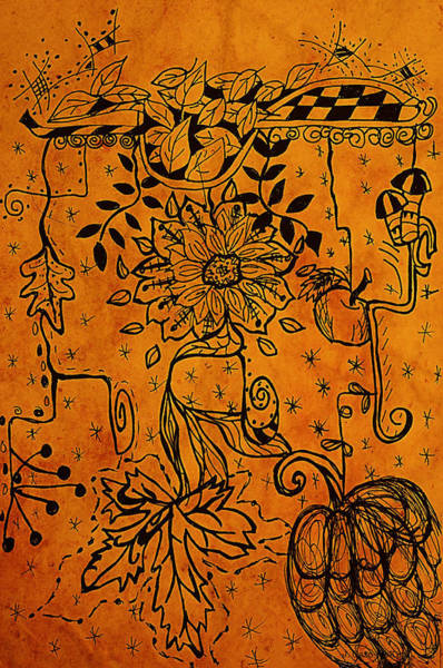 Maple Drawing - Autumn Pendants by Jo-Anne Gazo-McKim
