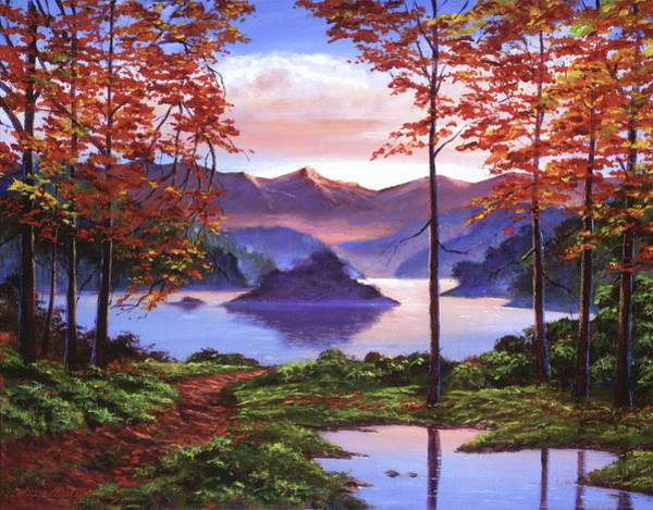 Painting - Autumn Perfectly Still by David Lloyd Glover