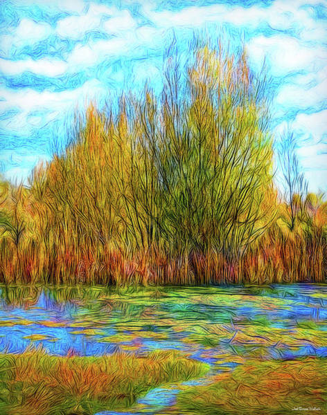 Digital Art - Autumn Pond Interlude by Joel Bruce Wallach