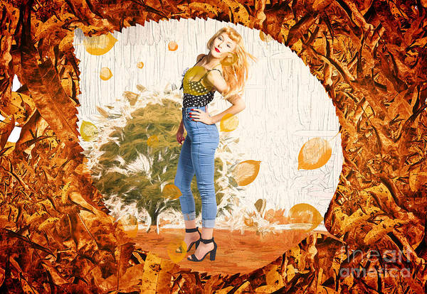 Digital Art - Autumn Postcard Pinup by Jorgo Photography - Wall Art Gallery