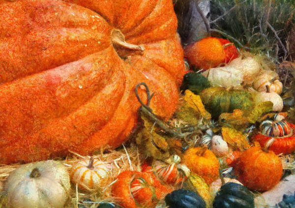 Wall Art - Photograph - Autumn - Pumpkin - All Of My Relatives by Mike Savad