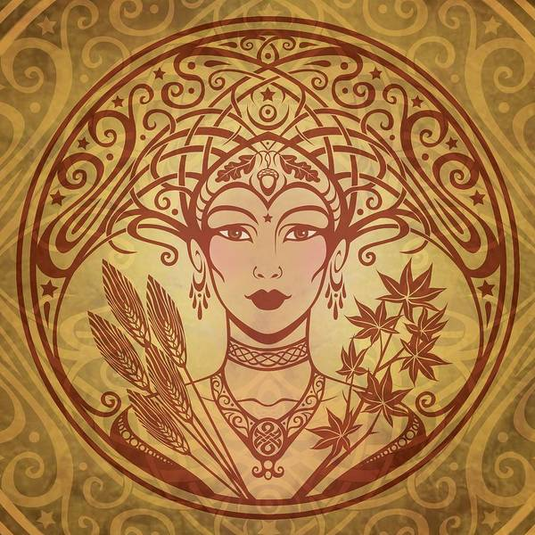 Gold Painting - Autumn Queen by Cristina McAllister