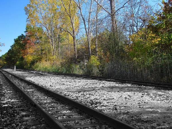 Photograph - Autumn Rail Line by Scott Hovind