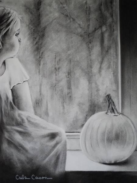 Rain Drawing - Autumn Rain by Carla Carson