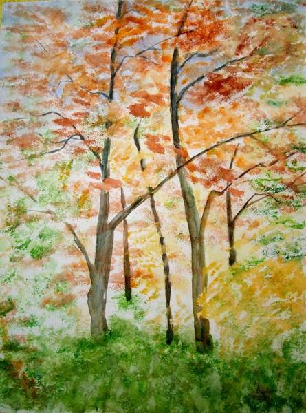 Painting - Autumn Reds And Golds by Joy of Life Art Gallery