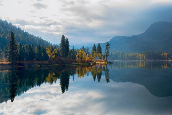 Photograph - Autumn Reflection by Harold Coleman