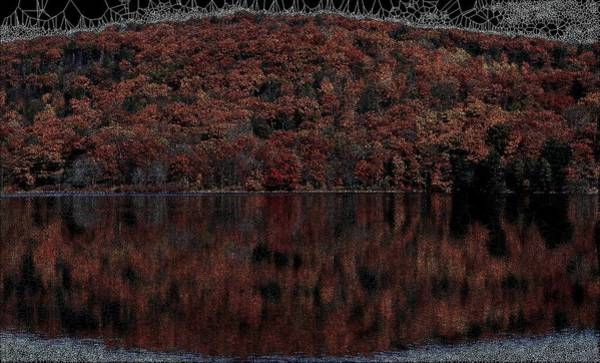 Digital Art - Autumn Reflection by Stephane Poirier