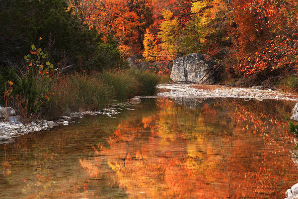Lost River State Park Wall Art - Photograph - Autumn Reflections At Lost Maples by Paul Huchton
