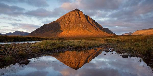Photograph - Autumn Reflections Of Buachalle Etive Mor by Stephen Taylor