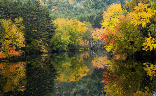 Bolton Landing Wall Art - Photograph - Autumn Reflections On Schroon River by Stephen Hobbs