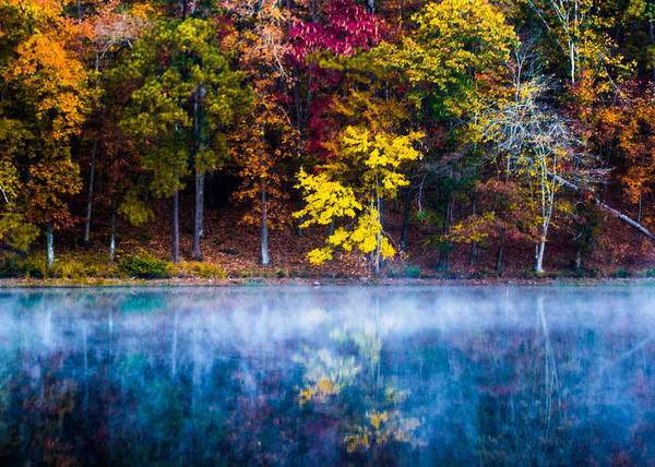 Photograph - Autumn Reflections On The Lake by Parker Cunningham