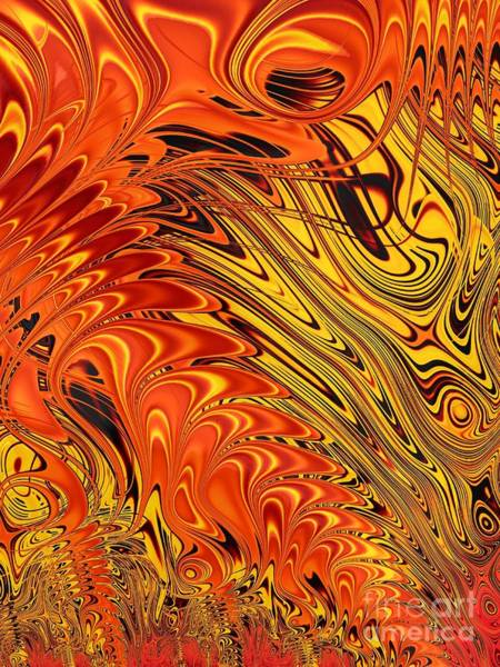 Digital Art - Autumn Reflections On The Water Fractal Abstract by Rose Santuci-Sofranko