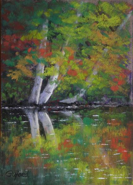 Wall Art - Painting - Autumn Reflections by Paula Ann Ford