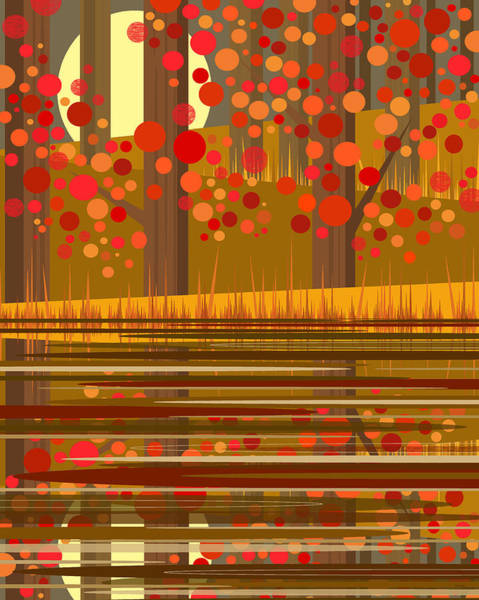 Digital Art - Autumn Reflections by Val Arie