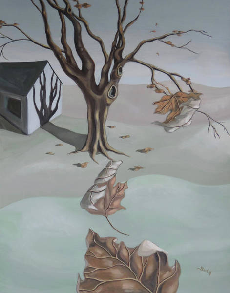 Painting - Autumn Remnants by Sally Banfill