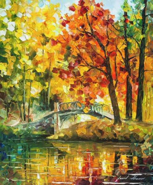 Wall Art - Painting - Autumn Rest   by Leonid Afremov
