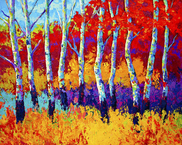 Aspen Tree Wall Art - Painting - Autumn Riches by Marion Rose