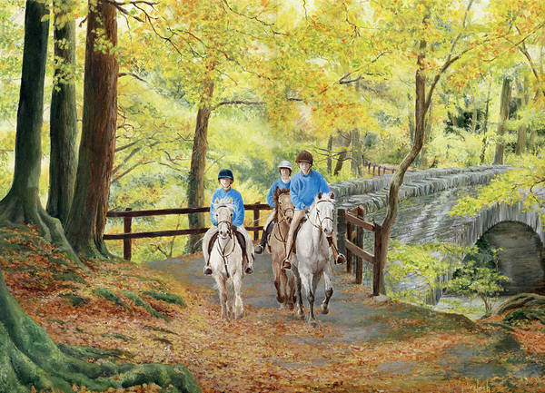 Wall Art - Painting - Autumn Ride by Julie Nash