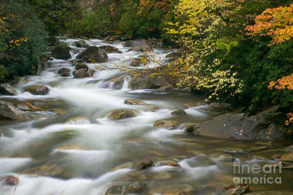 Photograph - Autumn River Cascades II by Clarence Holmes