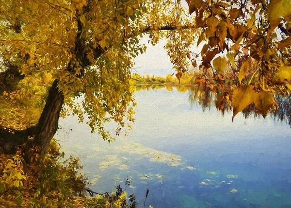 Digital Art - Autumn River by Charmaine Zoe