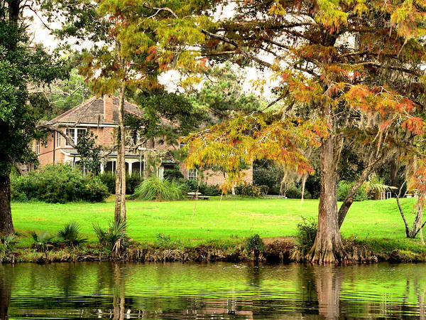 Photograph - Autumn River House by Kathy K McClellan