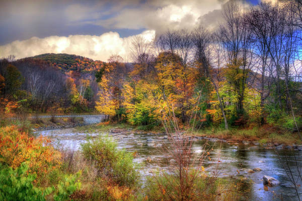 Photograph - Autumn River In Vermont by Joann Vitali
