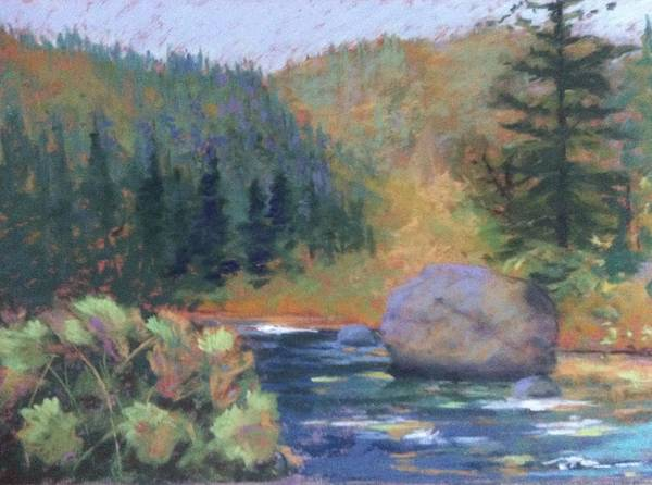 Painting - Autumn River by Janet Biondi