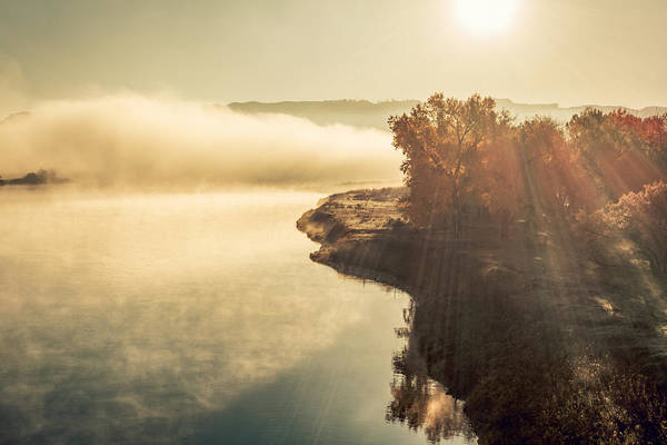 Photograph - Autumn River by Todd Klassy